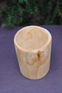 Kubek drewniany solo