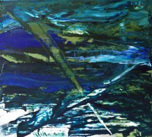 abstrakcja w zieleniach